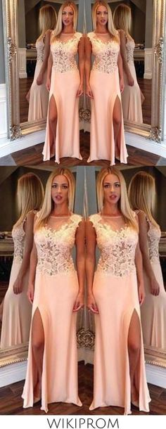 New Arrival Side Split Mermaid Scoop Sexy Sheer Long Party Gowns Women Pageant Dresses WK166, This dress could be custom made, there are no extra cost to do custom size and color Inexpensive Bridesmaid Dresses, Affordable Prom Dresses, Prom Dresses Online, Pageant Dresses, Evening Dresses, Cheap Mermaid Prom Dresses, Split Prom Dresses, Long Party Gowns, Nice Dresses