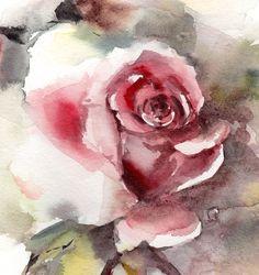 Kunstdruck/Poster von rosa Rose Feiner Kunstdruck von Original Aquarell Floral Watercoloru Wandkunst  : PRINT gedruckt auf Epson Art Drucker Museum Qualität bedrucken, schweres Gewicht Archivierung spezialisiert (Säure frei, speziell beschichtet, vergilbungsfrei) Papier. Jeder Kunstdruck ist eine Reproduktion von meinem original eine Art Kunstwerk.  GRÖßEN: Bitte wählen Sie aus dem Dropdown-Menü. Es gibt standard Zoll Größen und A-Größen auch. Sondergrößen sind ebenfalls verfügbar, bitte…