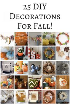 25 DIY Decorations For Fall