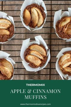 These Thermomix Apple Cinnamon Muffins are a real treat, especially for breakfast on a cool Autumn morning. The warm spicy cinnamon pairs brilliantly with the apples and the delicious aroma of them baking is irresistible.