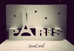 Paris Night DIY Birthday Pop-Up Card by SoooCard.deviantart.com on @deviantART