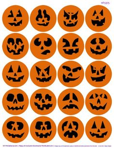 Pumpkin stickers and other printables on blog.worldlabel.com