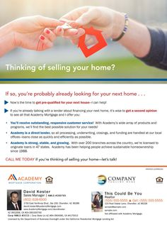 Thinking of selling your home? Get prequalified for the next one! David Kester - Loan Officer/Sales Manager at Academy Mortgage Chandler Branch