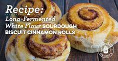 Long-FermentedWhite Flour Sourdough Biscuit Cinnamon Rolls