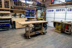 Rod relieves stress in this great little garage workshop! Rod relieves stress in this great little garage workshop! Garage Woodworking Shop Ideas, Woodworking Plans, Woodworking Projects, Garage Ideas, Wood Projects, Woodshop Tools, Woodworking Chisels, Woodworking Workshop, Project Projects