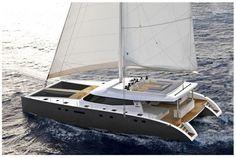 80 - Catamaran sailing yacht by Sunreef Yachts Catamaran Design, Sailing Catamaran, Yacht Boat, Sailing Ships, Menorca, Sunreef Yachts, Boat Design, Yacht Design, Super Yachts