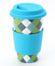 Take a look at this Blue & Green Argyle Classic Pattern Eco Cup by DCI on #zulily today!