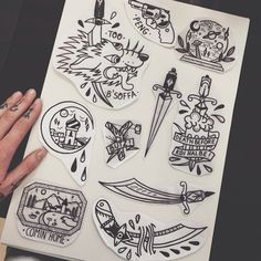 Folks, I got a bunch of left overs from our walk in day ready to tattoo. Hit me up via lucas@inkers-paradise.com when interested. #tattoo #tattoolife #tattoodesign #tattoosketch #tattooworkers #realtattoos #traditionaltattoo #boldlines #boldwillhold #darkartists #sketch #0711 #wastedhappyyouth #inkersparadise