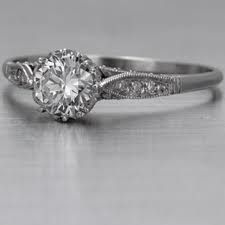 Simple Antique Engagement Ring