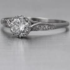 Simple Antique Engagement Ring, LOVE