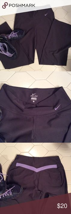 Nike Dri-Fit workout pants Nike Dri-Fit workout pant gray with light purple on the back. Great condition Size Small $20   🔶 Please ask all your questions before you purchase. I'm happy😊 to help  🔶 Sorry, no trades or hold. 🔶 Please, no lowball offers. 🔶 Please use the Offer Button 🔶 Bundle for your best prices 🔶 Ships next day, if possible 🎀 Thank you for visiting my closet 🎀 Nike Pants