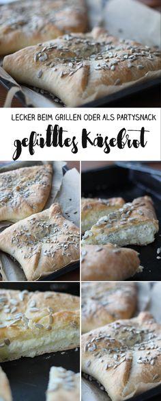 Gefülltes Käsebrot mit vier Käsesorten selber machen - lecker als Beilage beim Grillen oder als Party Snack
