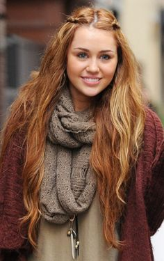 miley cyrus hippie braids