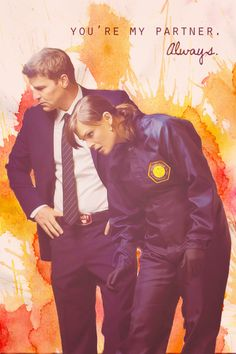 Booth and Brennan from Bones.