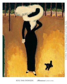 Parisienne (La Dame au Chien) Poster Print by Kees Van Dongen André Derain, Dutch Artists, French Artists, Henri Matisse, Art Fauvisme, Maurice De Vlaminck, Rembrandt, Wall Art Prints, Poster Prints