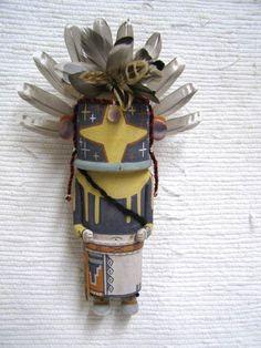 Old Style Hopi Carved Chasing Star Traditional Katsina Doll