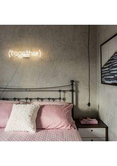 Cabeceira em ferro L'amour  para cama box  CASAL