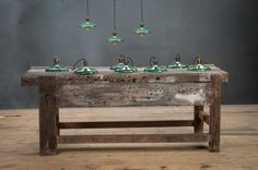 France, 1940s, Vintage Industrial Rolled Edge Saucer Pendant Lights.  http://lnk.al/1Zjy