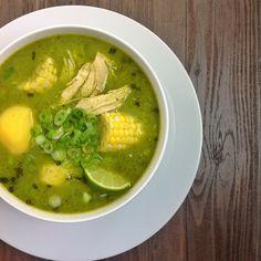 Peruvian Cilantro Chicken Soup | NutrientsYouFools.com