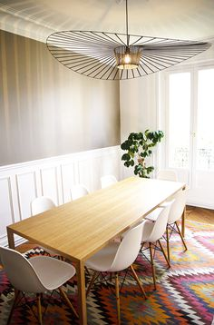 a pop of color in paris / sfgirlbybay vertigo suspension light available at Property Furniture