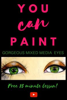 Learn how to paint GORGEOUS EYES for the whimsical girls that fill your mixed media art journals, altered books, & canvases! In this FREE step by step 13 minute tutorial, Karen Campbell spills all her secrets about how to draw eyes and shade them over col Mixed Media Faces, Mixed Media Art, Mix Media, Learn Art, Learn To Paint, Karen Campbell, Online Art Classes, Art Tutorials, Drawing Tutorials