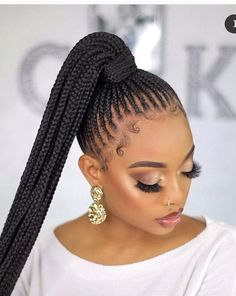 Braids Hairstyles Pictures, Braided Ponytail Hairstyles, Braided Hairstyles For Black Women, Ponytail Styles, Braided Hairstyles For Wedding, African Braids Hairstyles, Braided Updo, Braid Styles With Weave, Best Braid Styles