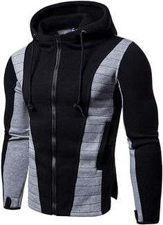 Buy Men's Fashionable Zipper Slim Fit Hoodie Sweatshirt, sale ends soon. Be inspired: enjoy affordable quality shopping at Gearbest! Hoodie Sweatshirts, Hoody, Hoodie Jacket, Hoodie Outfit, Zip Hoodie, Bomber Jacket, Style Masculin, Revival Clothing, Herren Style
