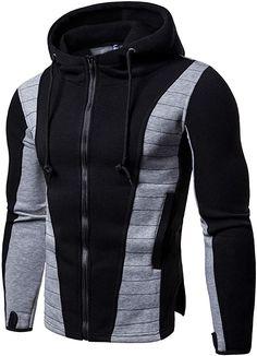 Buy Men's Fashionable Zipper Slim Fit Hoodie Sweatshirt, sale ends soon. Be inspired: enjoy affordable quality shopping at Gearbest! Hoodie Sweatshirts, Hoody, Style Masculin, Revival Clothing, Herren Style, Winter Hoodies, Cool Hoodies, Cheap Hoodies, Hoodie Jacket