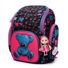 Россия ГОРЯЧИЙ Высокое качество 3D дети 4 12 лет Большой емкости девушка мешок школы бесплатно кукла студенты ребенок прекрасный путешествия рюкзак купить на AliExpress