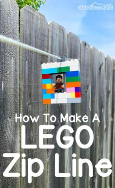 How to Make an EASY Lego Zipline! This DIY Zipline is fun and easy to make, plus educational too! This is a great STEM summer activity for kids of all ages summeractivities summerbucketlist lego 53409945568385389 Stem Projects For Kids, Lego Projects, Summer Activities For Kids, Diy Zipline, 7 Tage Detox Plan, Lego Hogwarts, Lego Activities, Outdoor Activities, Preschool Activities