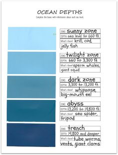 Relentlessly Fun, Deceptively Educational: Paint Strip Ocean Depths [Read and Record]