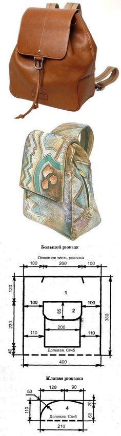 New Ideas Diy Bag Pattern Leather Fabrics My Bags, Purses And Bags, Diy Messenger Bag, Messenger Bag Patterns, Leather Backpack, Leather Bag, Bag Sewing, Diy Sac, Backpack Pattern
