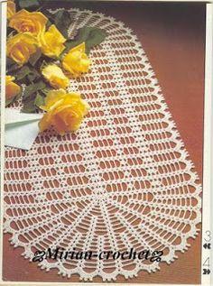 ஜMirian-receitas de crochêஜ: Caminho de mesa de crochê
