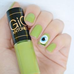 Nail art: Mike do filme Monstros S.A.