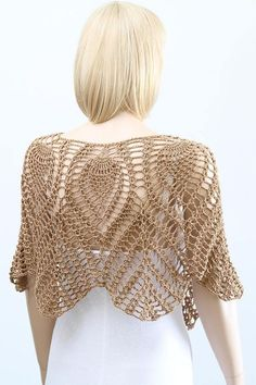 Cape Crochet Pattern Lacy Pele
