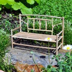 Bamboo Bench from the Miniature Fairy Garden