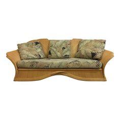 Reclining Sofa Vintage Rattan Sofa