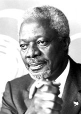 """Kofi Annan- The Nobel Peace Prize 2001 was awarded jointly to United Nations (U.N.) and Kofi Annan """"for their work for a better organized and more peaceful world"""""""
