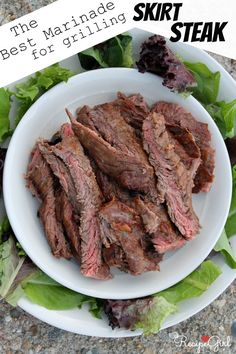 Best Marinade for Grilling Skirt Steak cup soy sauce cup Dijon mustard 3 tablespoons red wine vinegar cup extra-virgin olive oil 2 tablespoons molasses 3 cloves garlic, peeled and smashed with side of knife medium onion, chopped 1 to 2 pounds skirt steak Grilling Recipes, Meat Recipes, Cooking Recipes, Dinner Recipes, Healthy Recipes, Game Recipes, Barbecue Recipes, Healthy Food, Carne Asada