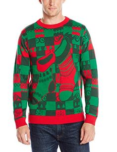 Men's Holiday Stockings Ugly Christmas Sweater, Red Combo - http://www.christmasshack.com/ugly-christmas-sweaters/mens-holiday-stockings-ugly-christmas-sweater-red-combo/