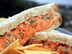 Nut and Carrot Sandwich... Hmm, wonder what I can replace the mayo with??