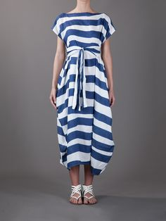 All day dresses. Never be stuck without something to wear with our collection of designer day dresses at Farfetch. Day Dresses, Dress Outfits, Cool Outfits, Dress Me Up, I Dress, Hand Making, Fabric Embellishment, Stripes Fashion, Fashion Fabric