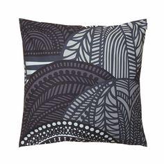 Marimekko Vuorilaakso Grey Throw Pillow