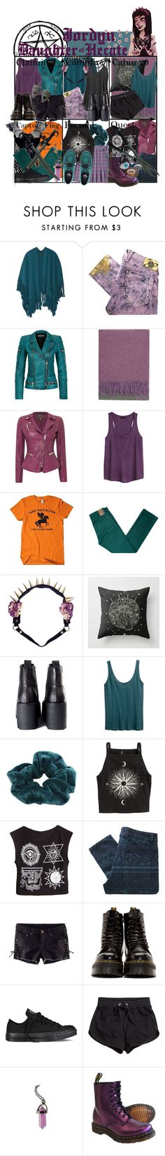 """Requested by nyssa-fire: Jordyn Daughter of Hecate"" by liesle ❤ liked on Polyvore featuring Burberry, Vivienne Westwood Anglomania, Balmain, John Hanly & Co., MuuBaa, H&M, 10.Deep, Bitching & Junkfood, Rival and CO"