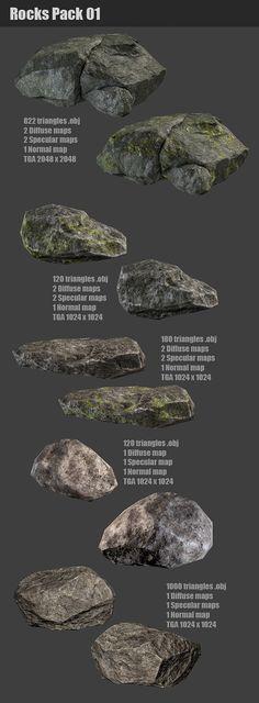 3DOcean Rocks Pack 01 1301770