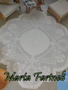 Ateliê Martha Farineli: Tapete de croche em barbante para sala oval