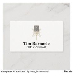 Microphone / Entertainment / Podcast Business Card