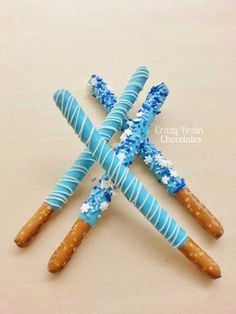 FROZEN Pretzel Rods 12 by CrazyBrainChocolate on Etsy, $13.00