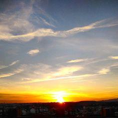Da minha #janela... // From my window... #window #pordosol #sunset