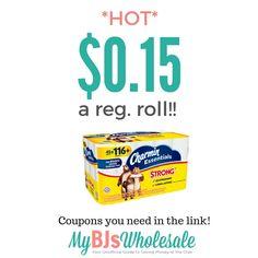 Charmin Essentials Strong Toilet Paper ONLY $0.15 a Regular Roll!! - http://bataviasbestbargains.com/2016/08/29/charmin-essentials-strong-toilet-paper-only-0-15-a-regular-roll/